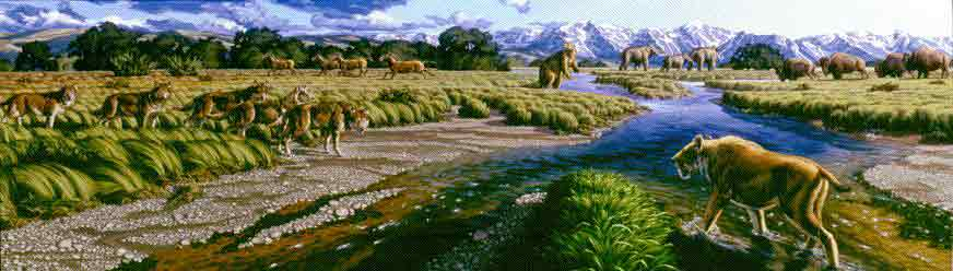An Ice Age Mediterranean scene as it may have appeared.