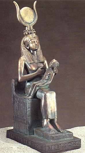Classical 'Madonna' statue of Isis nursing Heru. These are our parents. We all have these two people in our ancestry.