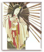 Amaterasu, ancestral Mother Goddess of Imperial Japan.