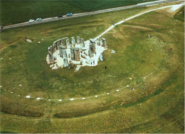 Aerial view of Stonehenge
