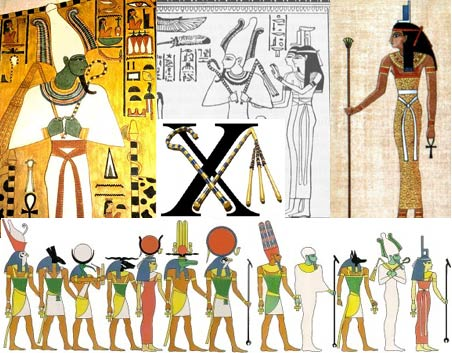 Images of Isis and Assur wearing the 'genetic crossing' sash.